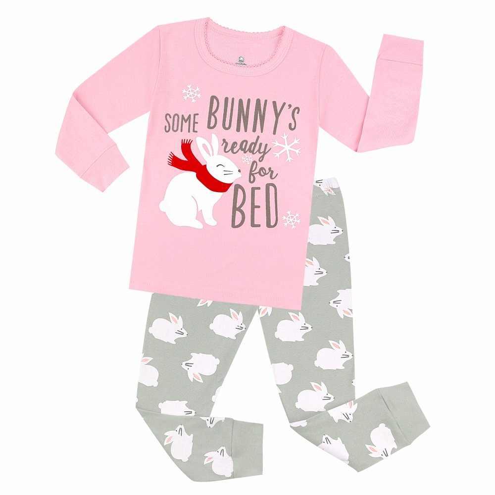 New Baby Girls Pajamas Sets Kids Bunny Easter Pyjamas Kids Children  Nightwear Baby Clothes Girls Unicorn 8eeb8ce5d