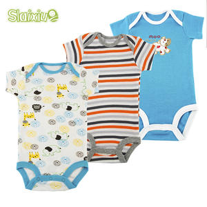 3pcs Newborn Baby Bodysuit Short Sleeves Kids Clothes Boys Summer Infant Jumpsuit Baby Clothing Sleepwear Baby Girls Bodysuits