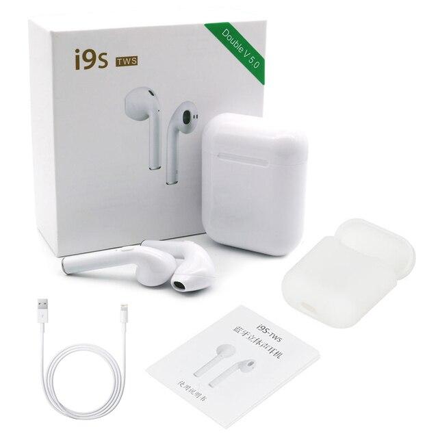 I9S TWS Bluetooth 5,0 auriculares inalámbricos Auriculares auriculares de emparejamiento automático con caja de carga para Iphone auriculares de aire inalámbricos