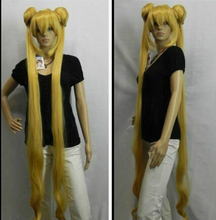 Cosplay sailormoon Sailor Moon Wasser- Eis auf blonde Double Tiger Card long wig Women's Heat Resistant Hair Wigs FREE SHIPPING стоимость