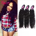 7a Malaysian Virgin Hair 4 Bundles Malaysian Deep Wave Wet And Wavy Human Hair Weave Malaysian Curly Hair Lumina Hair Company