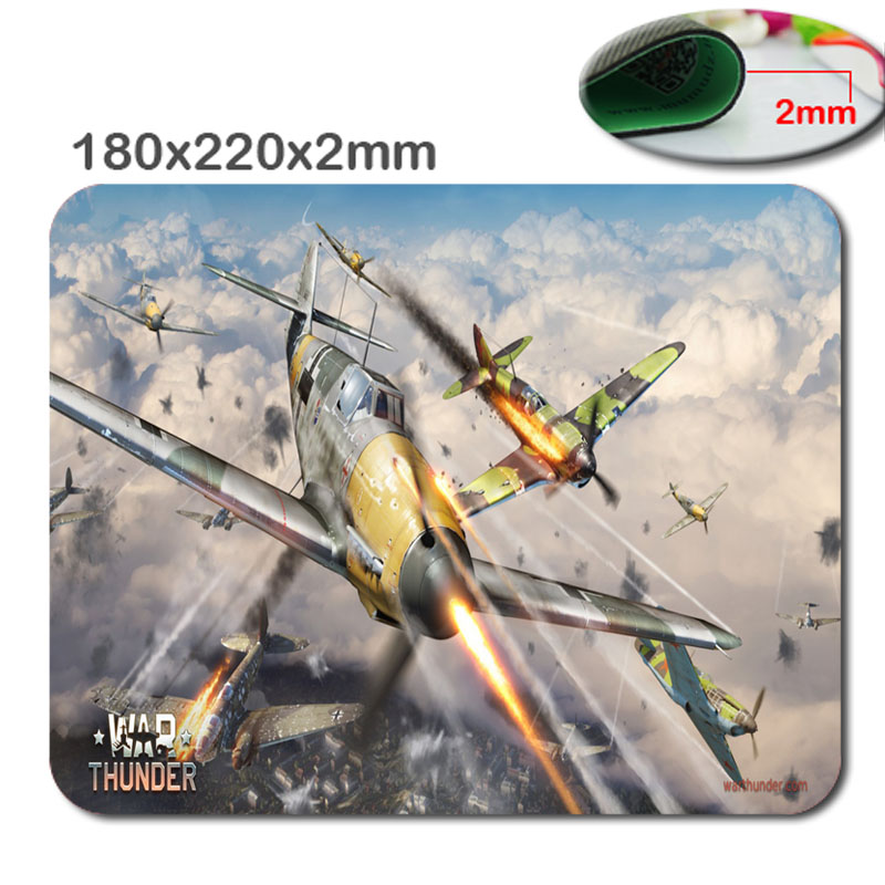 180*220*2mm &290*250*2mm War Thunder Gaming Subber Soft  Mouse Mat Hot Selling Custom High Quality Non-Skid Durable Mouse Pad