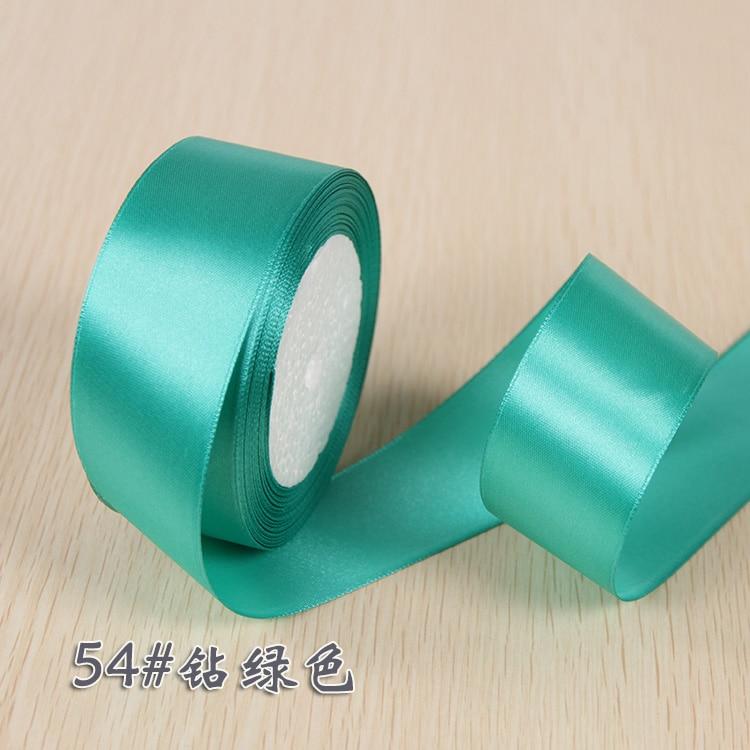 6 мм 1 см 1,5 см 2 см 2,5 см 4 5 см атласными лентами DIY искусственный шелк розы Ремесла поставок швейной фурнитуры Скрапбукинг материал - Цвет: Blue Green