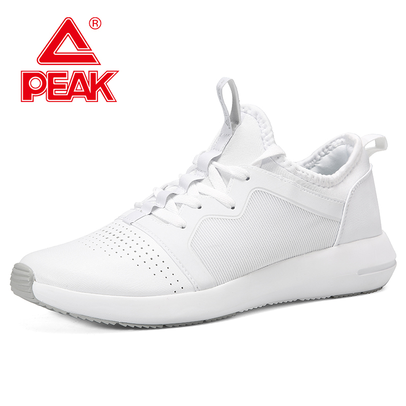 PEAK Urban Casual Men Shoes Lightweight Breathable Travel Walking Shoes Non slip Shock Absorbing comfortable Sneakers in Walking Shoes from Sports Entertainment