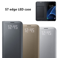 Original LED View Smart Cover Phone Case EF NG935 For Samsung Galaxy S7 Edge S7 With