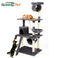 Europe Domestic Delivery Funny Cat Jumping Toy With Ladder Scratching Wood Climbing Tree For Cat Climbing