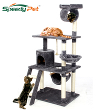 Europe Domestic Delivery Funny Cat Jumping Toy With Ladder Scratching Wood Climbing Tree For Cat Climbing Frame Cat Furniture цена