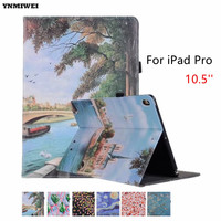 YNMIWEI Tablet Case For IPad Pro 10 5 Color Printing Hand Belt Holder Cover For IPad