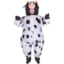 Adulto divertido Animal inflable vaca vestido de disfraces traje de Mascota de vaca disfraz de Halloween Purim Stag 150 cm-200 cm(China)