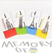 40 stks/partij Europese Gebouw Studenten Bookmark Geheugen van Londen/Parijs/New York/Pisa Reizen Geheugen kantoorbenodigdheden