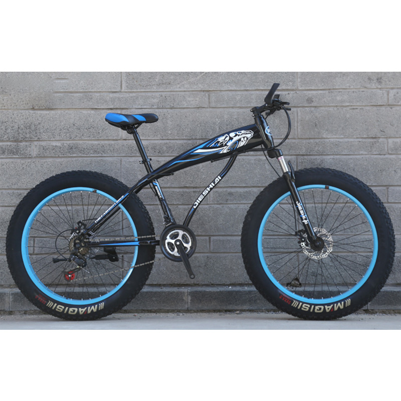 Snowmobiles Bicycle 24/26 Inches High Carbon Steel 21 24 27 Speed Spoke Wheel 4.0 Wide Tire Beach Mountain Bike