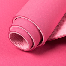 1pc 183*61cm 6mm Thick Two Color Yoga Mat Pad Non Slip Slimming Exercise Fitness Gymnastics Mat Body Building Esterilla Pilates цена и фото