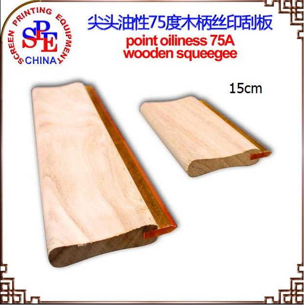 15cm Oiliness Squeegee 65 Durometer Screen Printing Scraper Screen Press 75A Squeegee