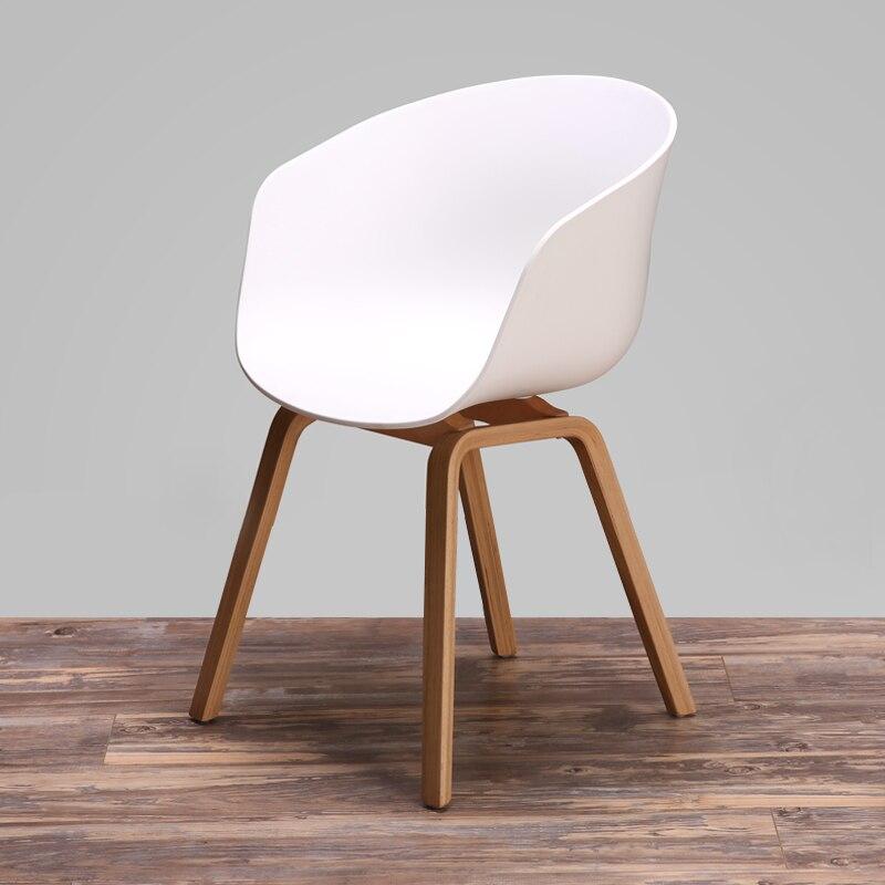 popular furniture wood. modern design wooden leg plastic pp seat dining chair popular fashion cafe living room loft furniture 1pc wood e
