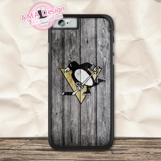 Pittsburgh Penguins Ice Hockey Fans Case For iPhone X 8 7 6 6s Plus 5 5s SE 5c 4 4s For iPod Touch