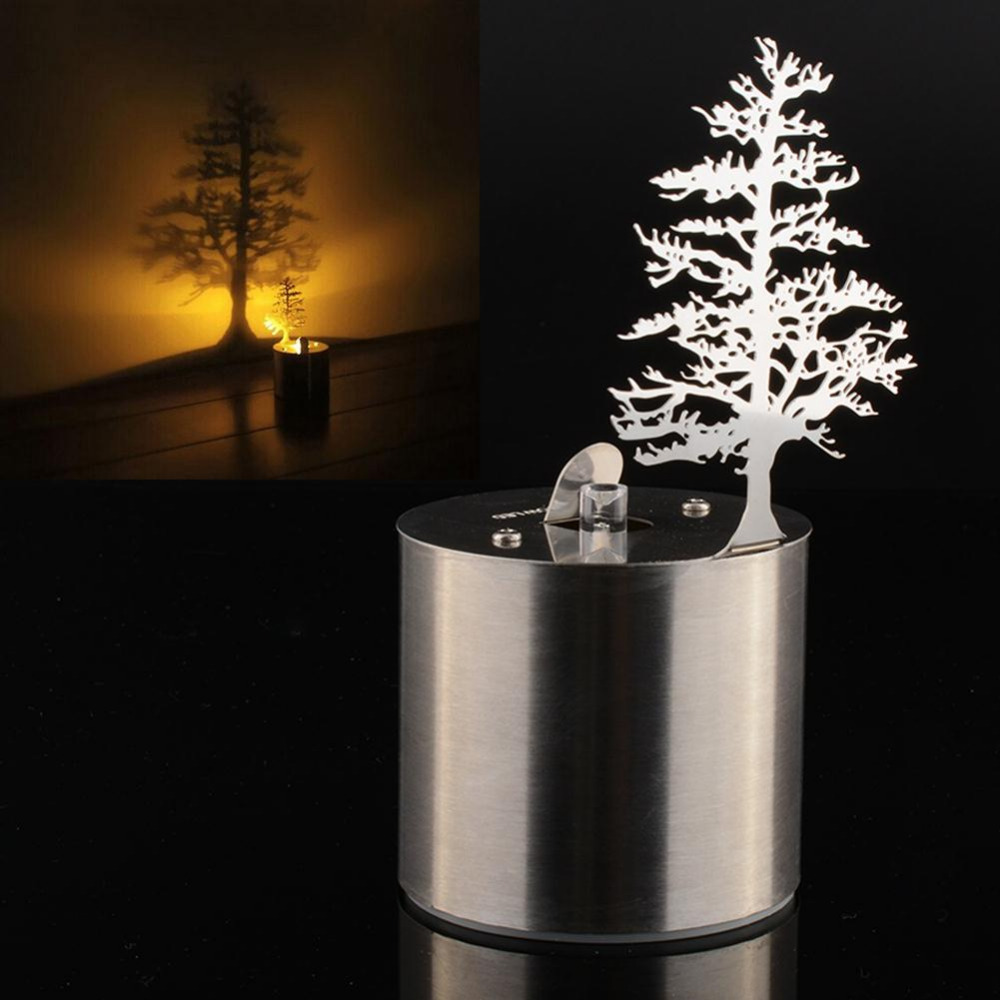 Pine Tree Romantic LED Shadow Projector Candle Home Bedroom Night ... for Tree Shadow Lamp  570bof