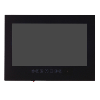 """15.6"""" inch IP66 Bathroom LED TV Waterproof Wall Mount Water-Resistant LED TV for SPA (Black/White) 4"""