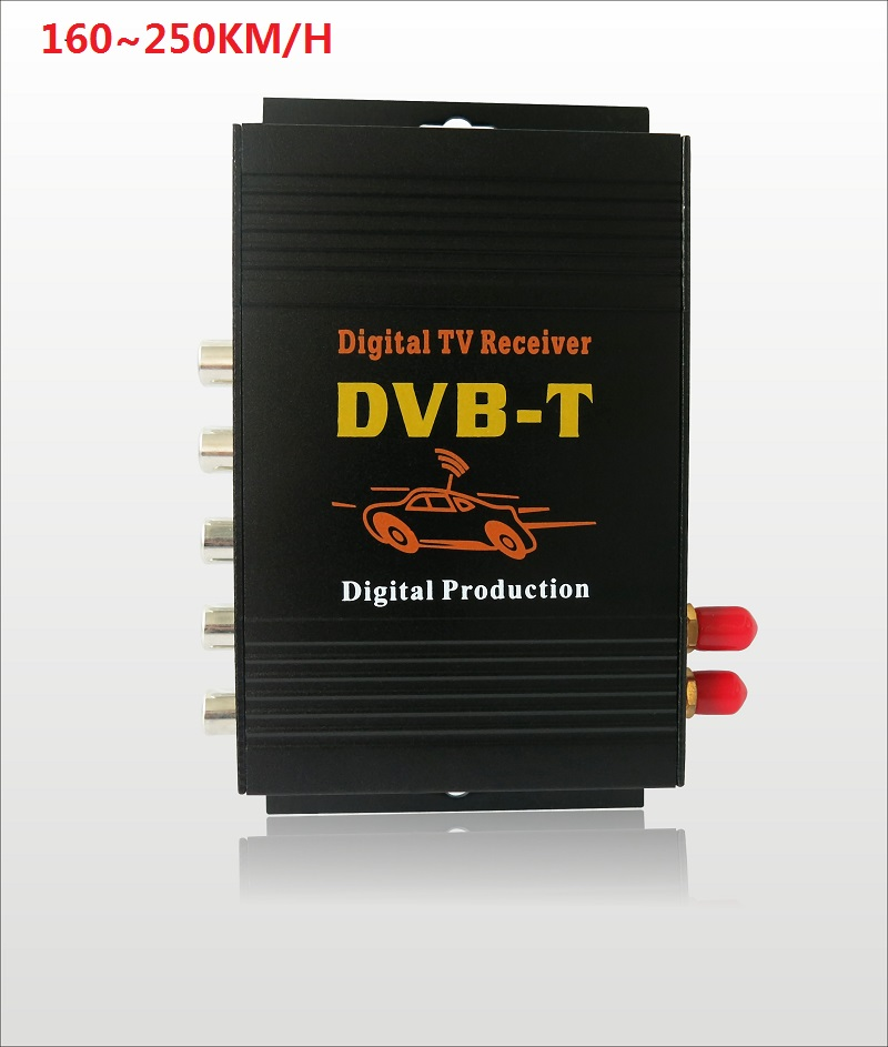 DVB T Car 160 250km h HD MPEG 4 Two Chip Tuner Two Antenna DVB T
