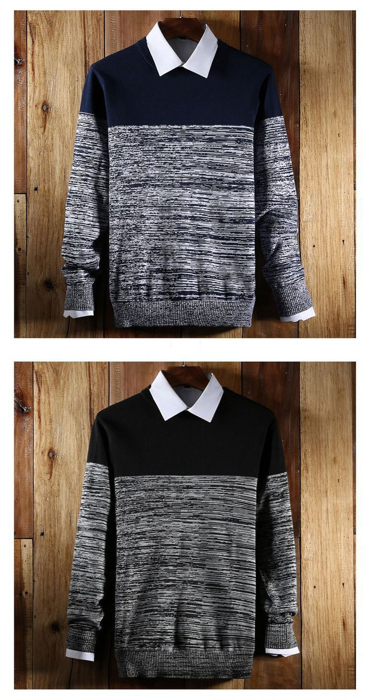 Aolamegs Men Sweater Fashion Hit Color Knitted Pullovers 2017 Spring New Men\'s Classic Casual Slim Fit Knitting Sweter Hombre (9)