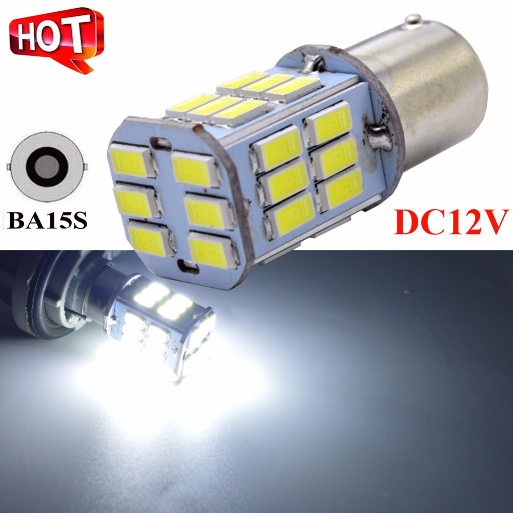 1x Super white 6V 12V 24V led 1156 ba15s led car moto light auto bulb parking Reversing lights led lamp brake light car styling image