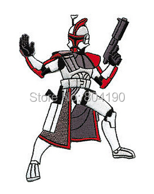 4 Star Wars Clone Trooper Die Cut Figure TV Movie Embroidered IRON ON and SEW ON