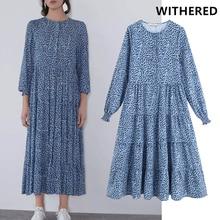 Женское платье в винтажном стиле с геометрическим принтом и круглым вырезом, свободные вечерние платья, vestidos de fiesta de noche, макси платье balzer