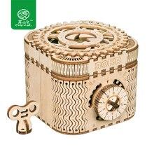 Robud механическая модель DIY 3D игра деревянная головоломка сокровище коробка/Календарь модель игрушки подарок для мальчиков и девочек LK502 дропшиппинг