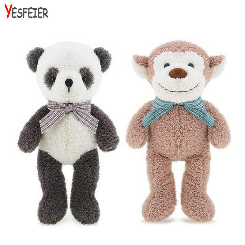32cm Kawaii plush kids toys brinquedos stuffed animal dolls baby toy Panda/monkey/bear/rabbit for children girl toys gifts cute pink sock monkey doll plush kids toys baby gift stuffed animal kawaii toy shops