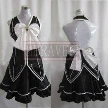 Fairy Tail Lucy Heartphilia Lucy Negro Vestido Cosplay del traje del Anime de encargo cualquier tamaño