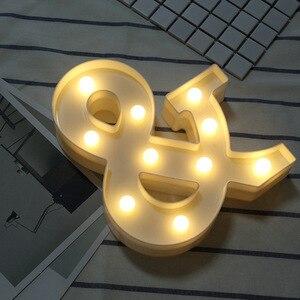 المنزل الديكور DIY إلكتروني رمز علامة القلب البلاستيك LED أضواء زخارف مكتب خطابات زخرفة ل الزفاف عيد الحب هدية