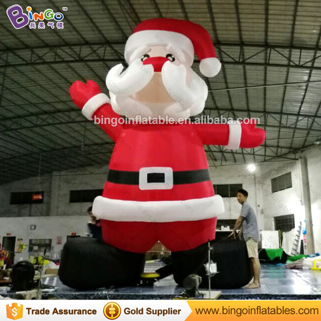 5m High Lovely Inflatable Christmas Giant Santa For Xmas Decoration