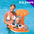 sunshade baby float  0-3years infant pool floats fish swim floats for children baby boys girls swim kids summer baby pool seat