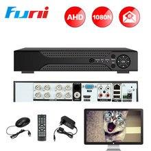 Big discount Funi AHD DVR 8CH 1080N 5in1 Digital Video Recorder For AHD Camera Analog Camera IP Camera H.264 VGA HDMI P2P CCTV System AHD DVR