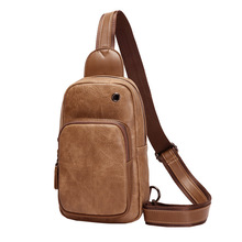 Fashion Trendy Male Single Shoulder Pack Ipad Slant Crossing Youth New Baitao Korean Cortical Mens Chest