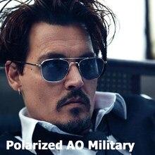 Jackjad óculos de sol polarizado, óculos de sol ao do exército, estilo militar, masculino, aviador a285