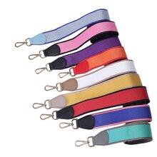 9 Цвет модная парусиновая плечевой ремень для Для женщин Блок Цвет Для женщин Запчасти для сумок и аксессуары широкий ремень вы Crossbody ремень