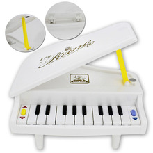 Music electronic piano education children educational fun toy mini white plastic musical instrument for baby gifts