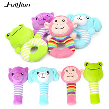 Fulljion Baby Toddler Rattles Mobiles Toys Soft Animal Musical Rattles Learning Educational Stroller Dolls Cute Bebe Infant Toys(China)