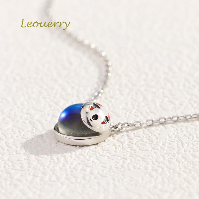 Купить leouerry ожерелье из стерлингового серебра 925 пробы с круглым