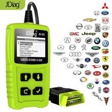 JDiag JD101 Читатели код Автосканер двигателя двигатель автомобиля диагностический инструмент OBD2 сканер Automotriz с Батарея Тесты