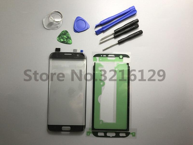 Ersatz Original neue LCD Vordere Touchscreen Outer Glas Objektiv Für Samsung Galaxy S7 Rand G935 G935F/P/ v/R/T/A + Sticke + Werkzeug