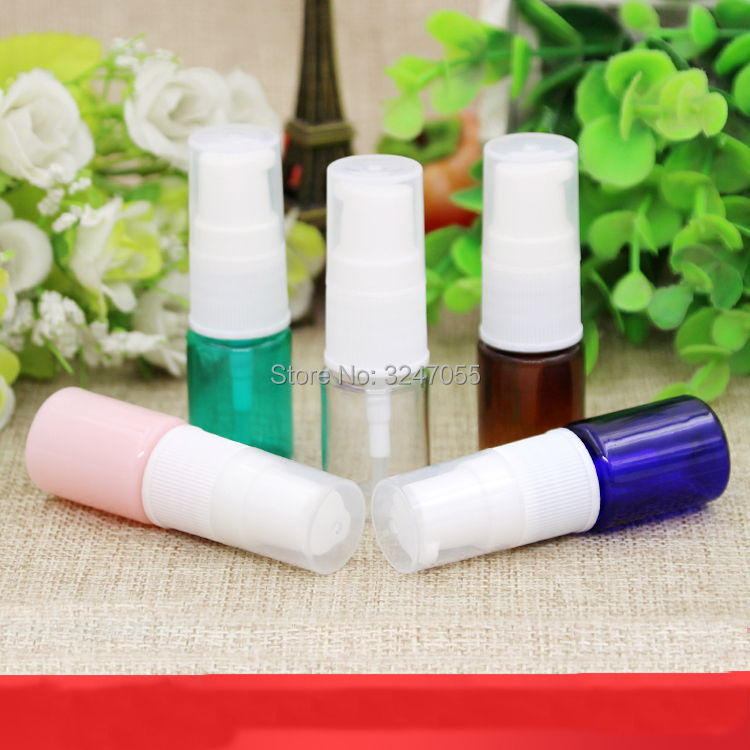 5ML 50pcs 100pcs Small Empty Plastic Cosmetic Liquid Refillable Bottle, DIY Pink Elegant Lotion Pump Container, Toner Package 50pcs free shipping plastic liquid eye liner bottle empty eyeliner tube cosmetic container