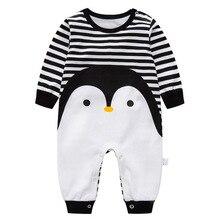 Long Sleeved Penguin Romper