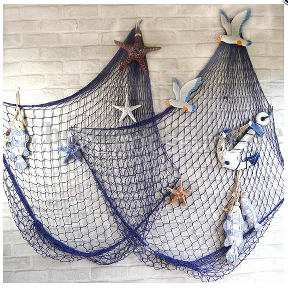 Nautical Fish Fishing Net Netting Photography Prop Luau Party Wall Decor CraftsA