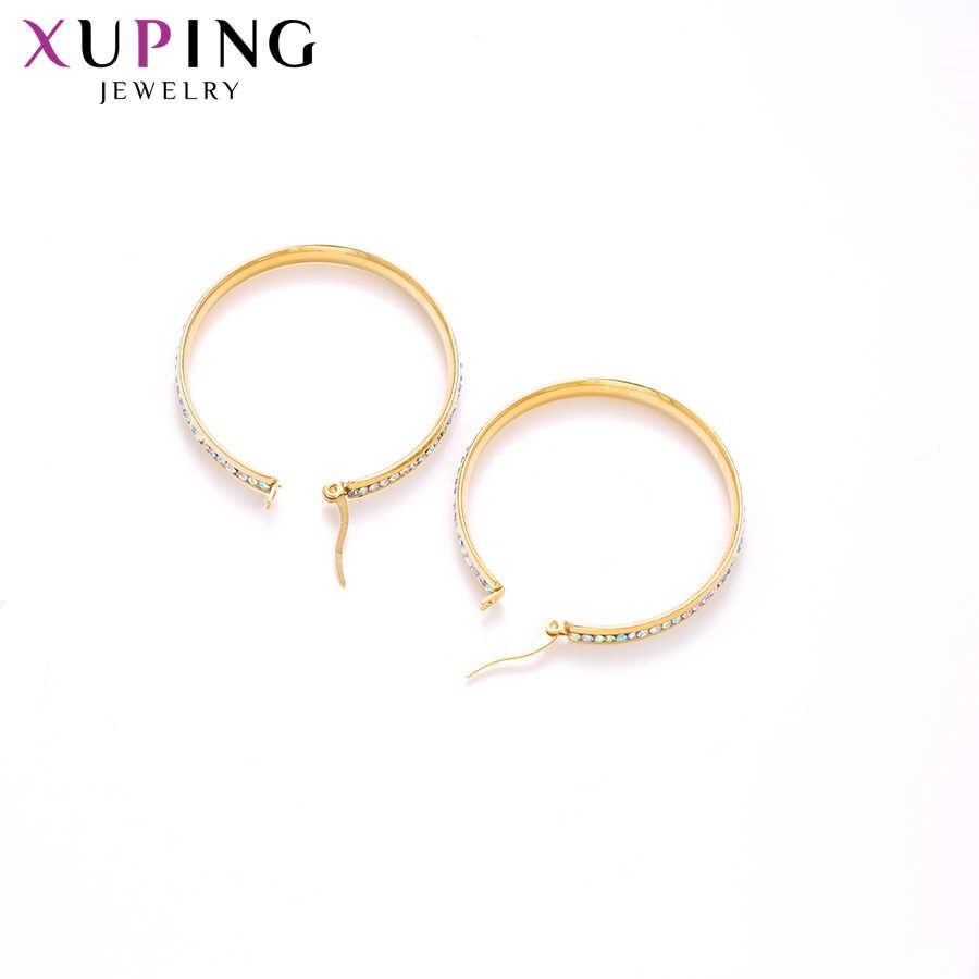 Xuping personnalisé mode boucles d'oreilles en acier inoxydable bijoux Style européen carrière parti élégant dames cadeaux S187.5-E-587