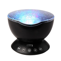 Starry Sky Remote Control Ocean Wave Projector Built In Mini Music Player Novelty 7 Color Changing