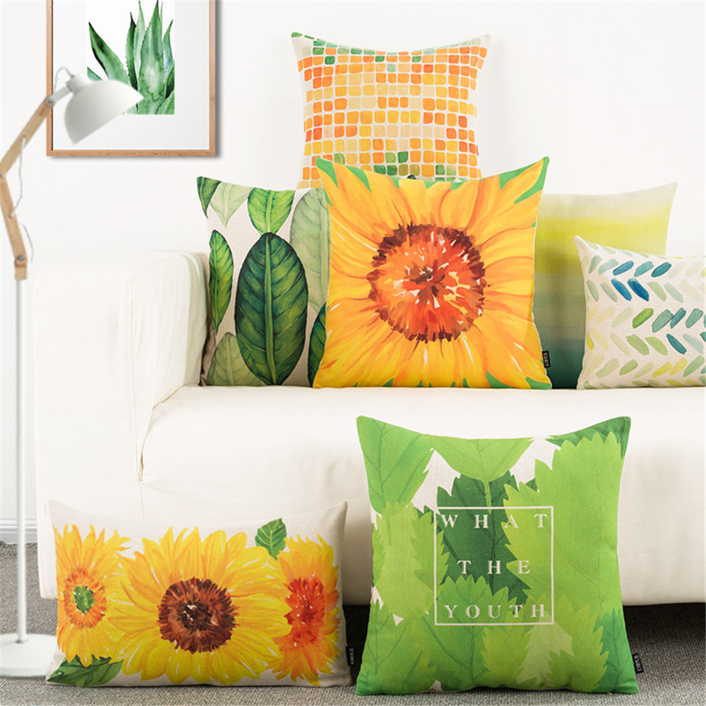 Nordic Style Yellow Green Plant Flower Waist Office