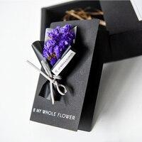 1 Pz Fiore Secco di Nozze Carta di Invito Biglietto Di Auguri di Compleanno Regalo di Favore di Carta Nera Cartolina di san Valentino Amore Messaggi
