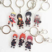 18 stil Naruto Cosplay Requisiten Acryl Akatsuki Schmerzen Uchiha Itachi Uchiha Madara Schlüssel Kette Schlüsselring