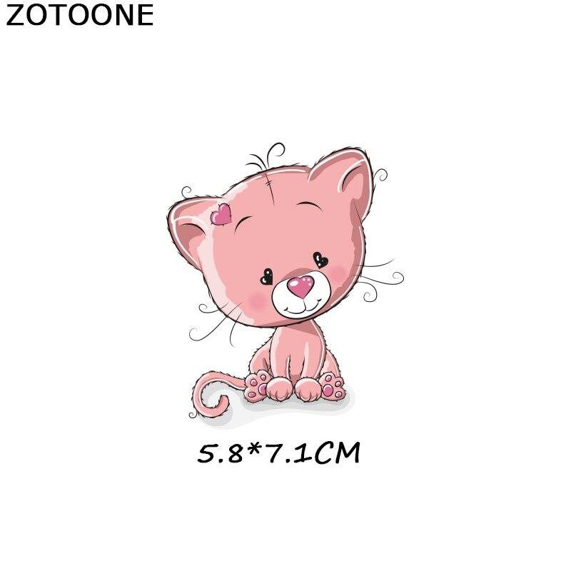 ZOTOONE нашивки с полосками, набор, железная передача, единорог, кошка, нашивки в форме собак, футболки для девочек, детская одежда, сделай сам, переводные наклейки, G - Цвет: 1079